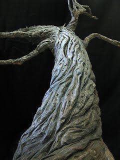 Tree of the Dead, clay with wire armiture